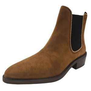 COACH Womens Bowery Beadchain Chelsea Boots Umber Brown